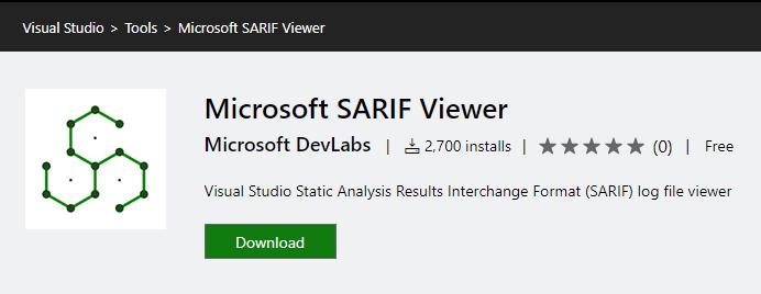 Microsoft SARIF Viewer Tool