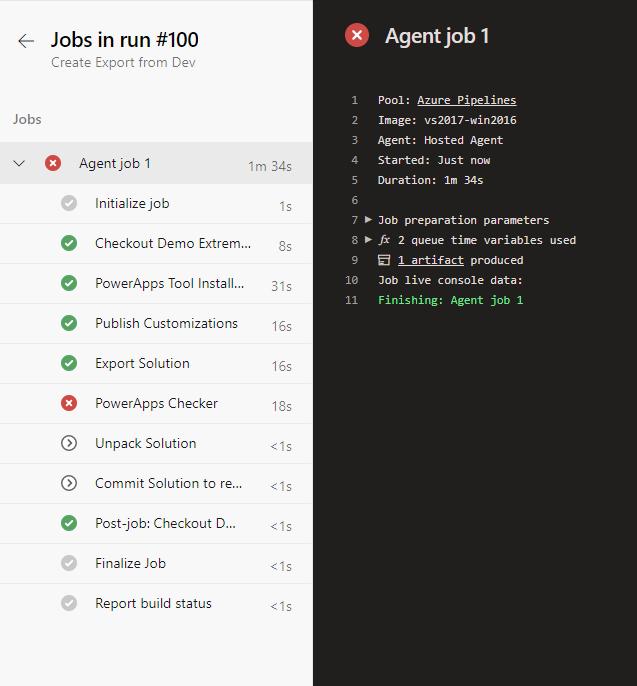 Error job run