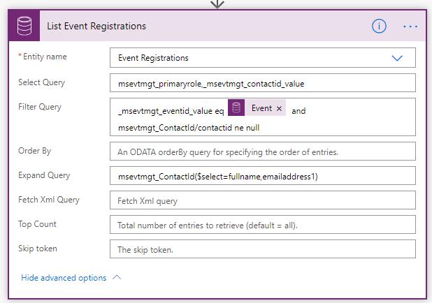 Load Event Registrations