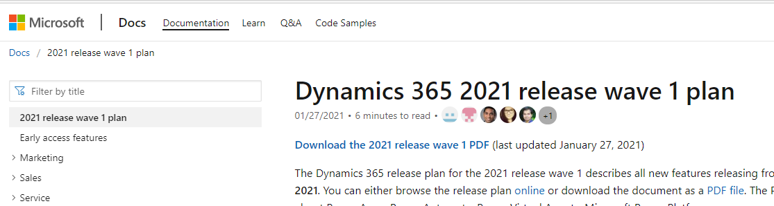 Release 2021 Wave 1