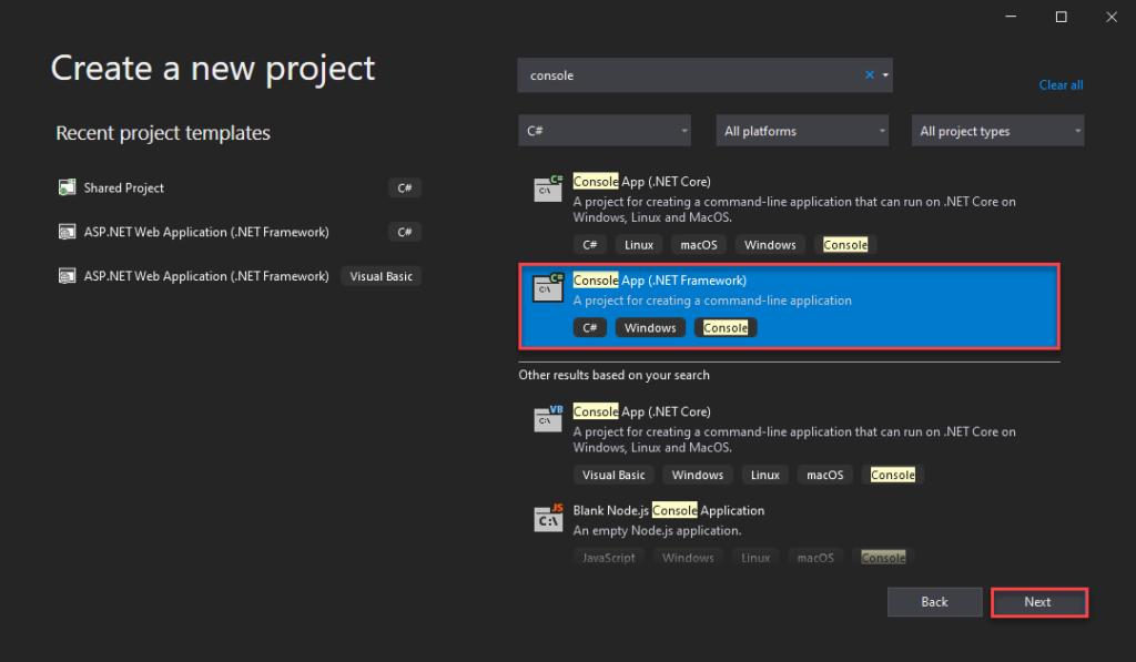 Add Spkl - Create Project - Choose Type