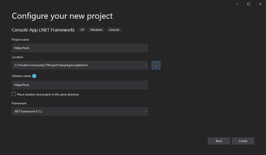 Add Spkl - Create Project - Config